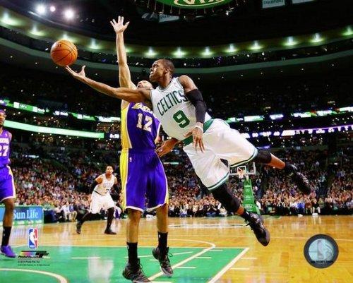 (Rajon Rondo Boston Celtics 2014 NBA Action Photo (Size: 8