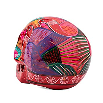 T/ête de Mort d/écor/ée Grande Fantastik r/âne Mexicain en c/éramique Blanche FANMEX