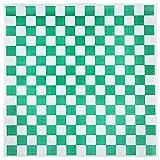 Choice 15'' x 15'' Green Check Deli Sandwich Wrap Paper - 4000/Case