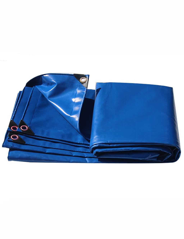 PIPIXIA BÂche de Toile de Tissu de bÂche d'ombre de PVC Multi-usages la Toile imperméable à l'eau Anti-Corrosive Anti-Moule imperméable à la poussière appropriée à la Tente de bÂche Bleu 2