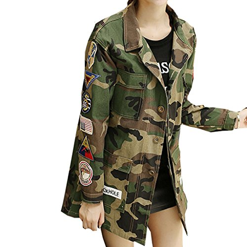 New Fashion 77 Camouflage BF Camo Jacket Military Fatigues Restoring Pockets Army Green Women (70s Womens Hairstyles)