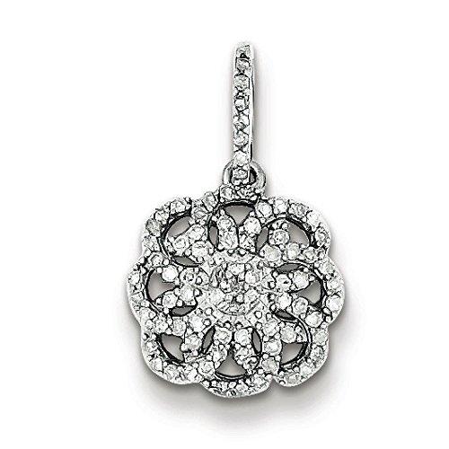 Argent Sterling diamant pendentif-JewelryWeb