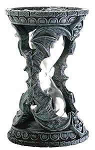 Gothic Halloween Skull Bat Sand Timer Decoration Figurine Collectible
