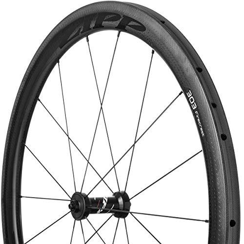(Zipp 303 Firecrest Carbon Road Wheel - Tubular Black, Rear, SRAM/Shimano)
