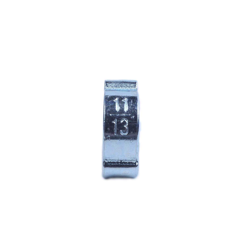 SODIAL 10Pcs 2Ear Clamp Air Fuel Hose Petrol Tube O Clip 11-13mm