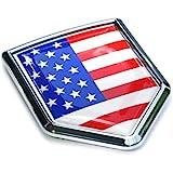 Car Chrome Decals CBSHD228 USA Flag Chrome Emblem Badge Decal Car Bumper Sticker American