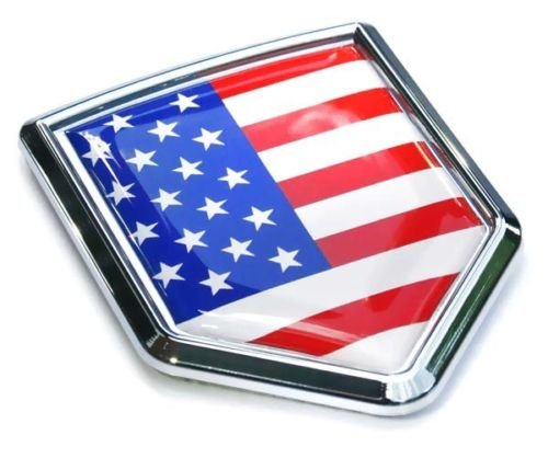 USA Flag Car Chrome Emblem Badge Decal 3D auto Bumper Sticker American (Emblem Badge Flag)
