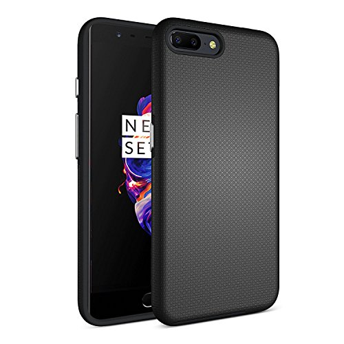 Parallel Universe Oneplus 5 / One Plus 5 Back Cover Case Slim Extreme Dual Layer Protection Backcover  Black