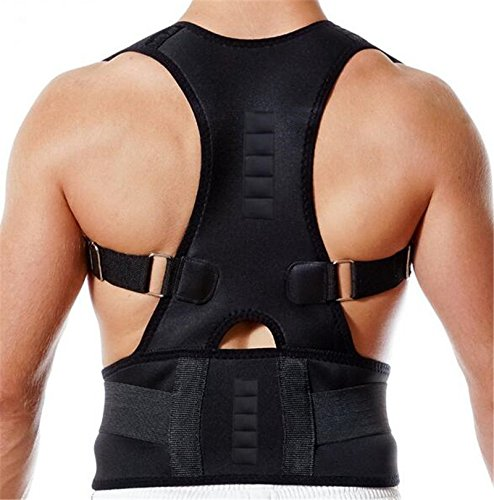 CHOME Posture Corrector for Men and Women, Adjustable Clavicle Brace,Improve Thoracic Kyphosis, Shoulder Support, Upper Back & Neck Pain Relief S 60cm TO 75cm