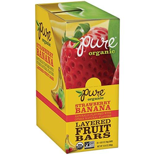 Pure Bar Strawberry & Banana Layered Fruit Bars, 20 ct