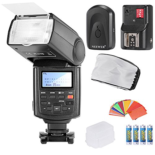 Neewer NW680/TT680 Speedlite Flash E TTLHigh-Speed Sync Camera Flash Kit for Canon 5D MARK 2 6D 7D 70D 60D 50D 600D/T3i 550D/T2i and other CANON DSLR Cameras,includes(1)NW680/TT680 Flash+(1)Universal Mini Flash Bounce Diffuser Cap+(1)35-piece Color Gel Fi by Neewer