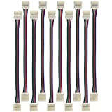 Radiance LED Strip Light Connector, 10-Piece, 4 pin