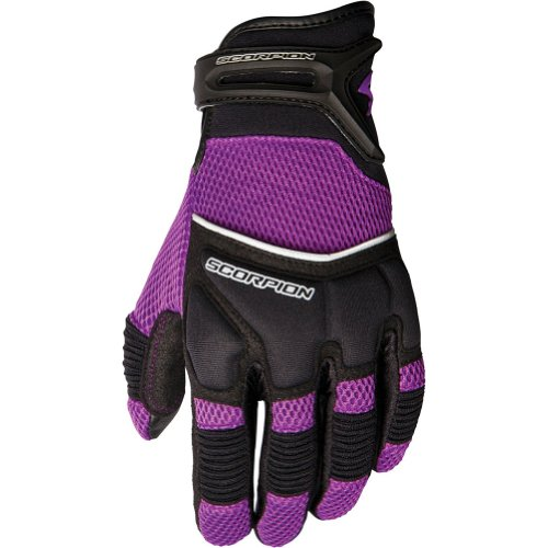 Scorpion Coolhand II Women's Leather/Textile Vented Street Bike Racing Motorcycle Gloves - Purple/Medium
