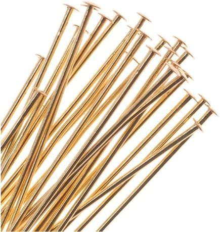 x20 Beadaholique 22K Gold Plated 2mm Ball Head Pins 21 Gauge 2 Inches