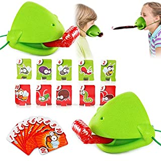Funny Quick Tongue Game Family Desktop Athletics Catch Bugs Game Board Game Interactive Toys Cards Toy Set for Kids Teens Family Friends Party Supplies