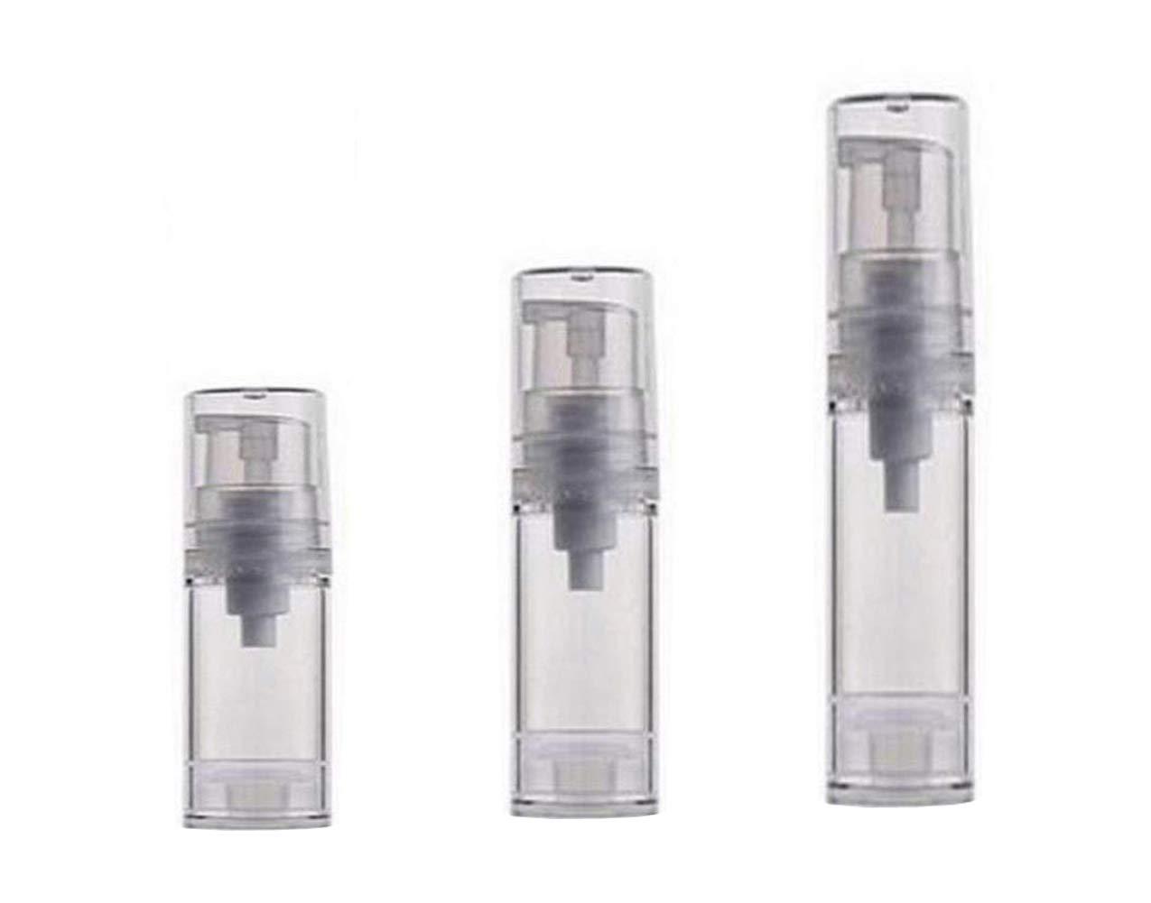 3PCS 5ML+10ML+15ML Empty Refillable Airless Plastic Bottle Vacuum Pump Press Foam Container