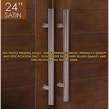Pull Push 24  Handles for Entrance Entry Front Door  Interior and Exterior   Satin Finish  Storefront Door  Commercial Entry Gate and Office Door. Amazon com  Pull Push 24  Handles for Entrance Entry Front Door