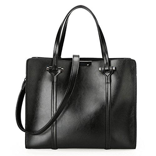 NVBAO Sacchetto di spalla della borsa della signora Sacchetto della spazzola dell'olio di modo di sbucciatura Turismo Grande capacità Quattro colori, wine red black