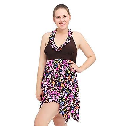 SZH YIBI Mme Grande Scission Maillot de Bain Taille de Bikini Jupe Haute élasticité Maillot Europe et aux États-Unis de Grande Taille Maillot de Bain Maillot de Bain