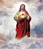 Jesus Christ Sacred Heart NEW LED Flameless Devotion Prayer Candle, 6 Hour Timer, Religious Gift