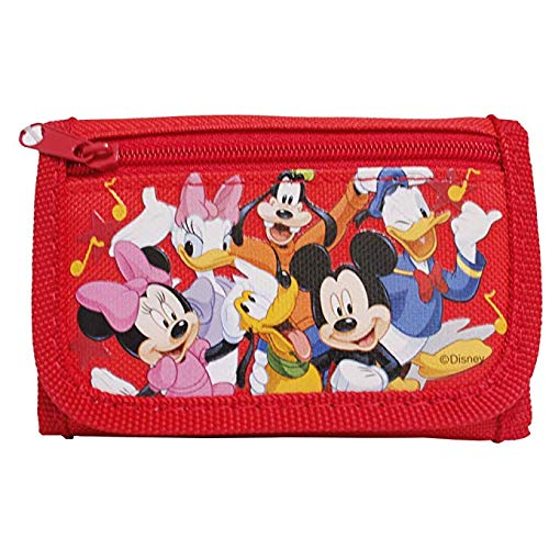 - Disney Mickey Mouse Authentic Licensed Trifold Wallet (Red)