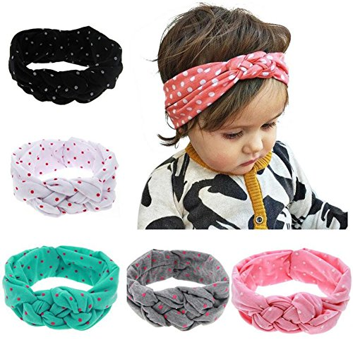 Qandsweet Baby Girls Turban Knotted