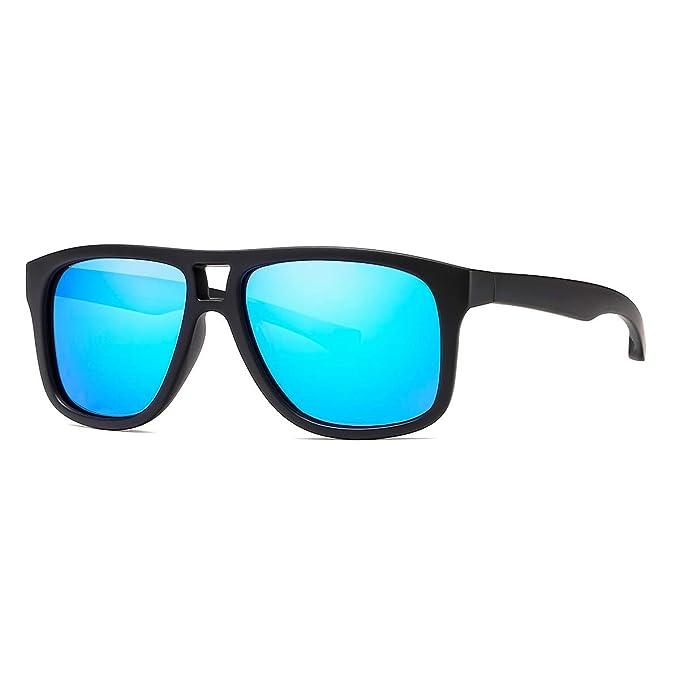 9f32bd26c7 kimorn Gafas de sol polarizadas Marco cuadrado piloto Gafas deportivas Para  Caza Pesca Conducción k0610 (