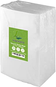 VacYaYa 100 Gallon Szie 11 x 16 Inch Food Saver Vacuum Sealer Storage Bags for Food Saver,Vac Seal a Meal Bags with BPA Free and Commercial Grade Sous Vide Vaccume Safe PreCut Bag