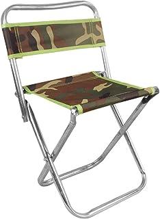 Forbestest Camouflage Schienale Pesca Sgabello Portatile Pieghevole Sedia da Giardino di Campeggio di Picnic Mini Seating