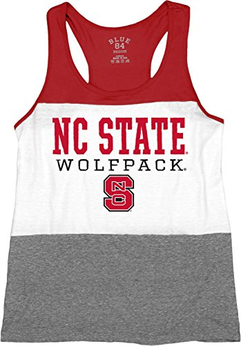 NCAA North Carolina State Wolfpack Tri-Blend Panel Tank Top, Red, Small (Nc State Football)