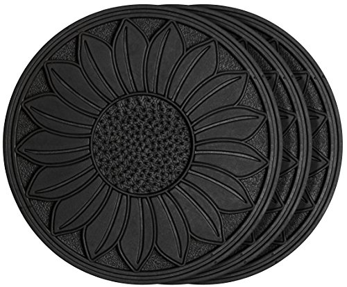(HF by LT Rubber Sunflower Garden Stepping Stone, 11-3/4