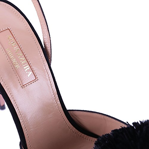 Aquazzura Ladies Pwphigl0sue000 Scarpe Con Tacco Alto In Pelle Nera