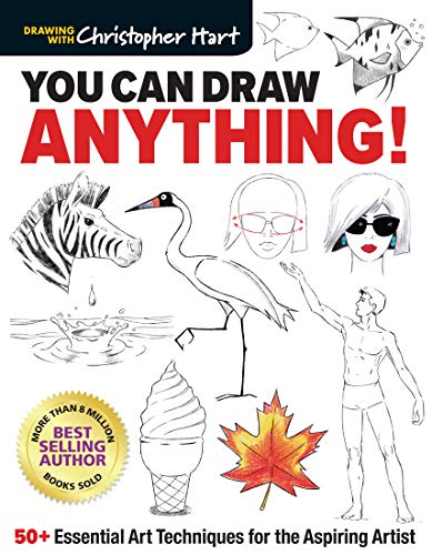 Book Cover: You Can Draw Anything!: 50  Essential Art Techniques for the Aspiring Artist