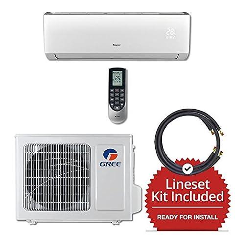 Gree VIR12115-141215 - 12,000 BTU 22 SEER Wall Mount Mini Split Air Conditioner Heat Pump 115V & 15' Line Set