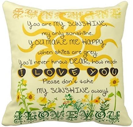 You Are My Sunshine Pillow Fashion Home