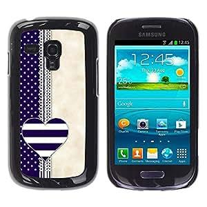 FECELL CITY // Duro Aluminio Pegatina PC Caso decorativo Funda Carcasa de Protección para Samsung Galaxy S3 MINI NOT REGULAR! I8190 I8190N // Notebook Blue Beige White