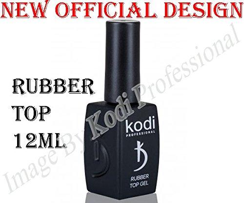 Kodi Professional Rubber Top 12 ml. 0.42 oz UV Led Gel Nail Polish Coat New Official Design by Kodi Professional