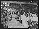 Vintography Reproduced Photo of Corozal, Puerto Rico Vicinity. Glee Club Singing God Bless America in Spanish at The Tenant Purchase Celebration 1941 Delano C Jack 96a