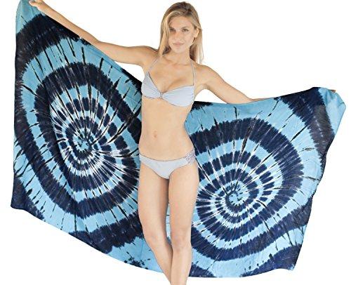 e8f4f3a6e23da Sarong Bali Womens Tie Dye Dress Bathing Suit Swimsuit Pareo Cover up Wrap  Blue hot sale