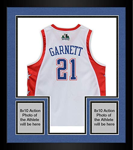 Framed Kevin Garnett Minnesota Timberwolves Autographed All-Star Jersey - Limited Edition to 50 - Upper Deck Certified