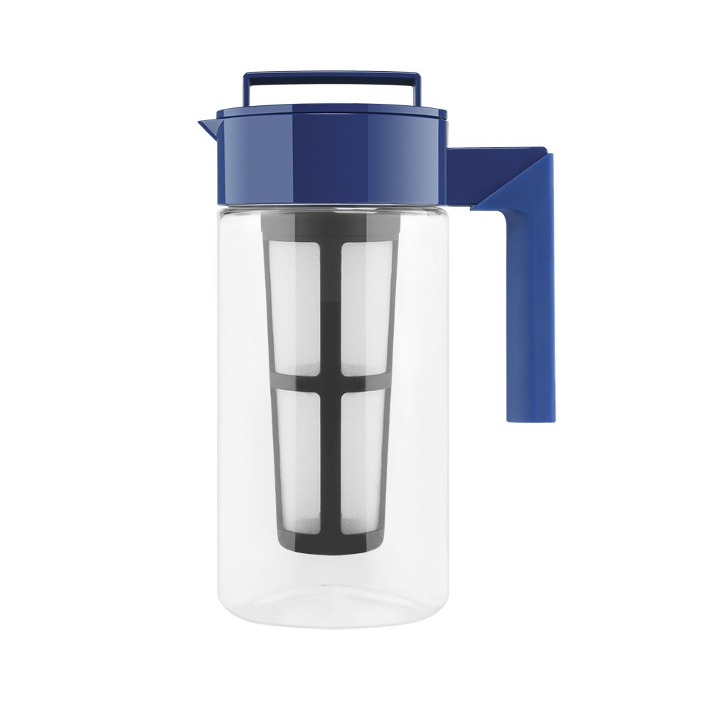 Takeya Iced Tea Maker with Patented Flash Chill Technology Made in USA, 1 Quart, Blueberry by Takeya