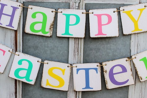 Easter SIGNS HAPPY EASTER BANNERS Rustic Decorations