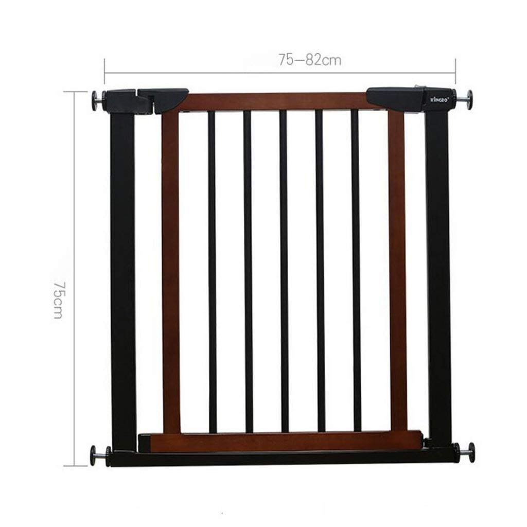 Huo Baby Gate Walk Thru Baby Gate, Auto Close Child Safety Gate Ideal for Standard Or Wider Stairways,Black (Size : Width 117-124cm)