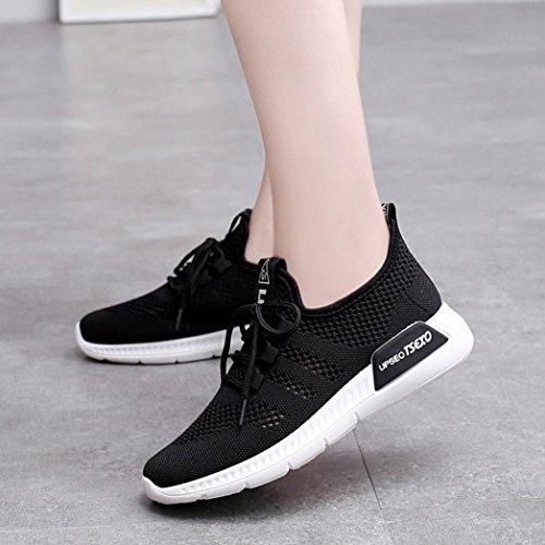 Respirables Corrientes Mocasines Zapatos Logobeing Malla de Zapatillas para Casuales Zapatos Mujer Gimnasia Suaves Deporte de de Negro Zapatos vwvHqF
