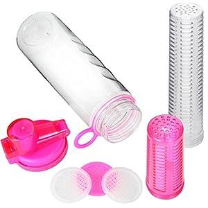 Fruit Infuser Water Bottle 25 oz Leak Proof Flip-top Sport Water Bottle BPA-Free Tritan 25 Oz (Pink)