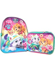 Girls Paw Patrol 16 Backpack W/Lunch Bag Set