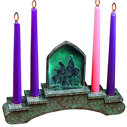 Abbey Gift Bethlehem Journey Advent Candleholder with Candles