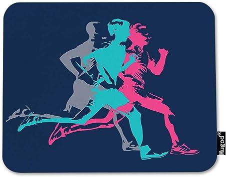 Running Decor Monogram Mouse Pad Running Mouse Pad Athletic Gift Marathon Gift Custom Mouse Pad Jogging Gift BK1 Jogging Mouse Pad