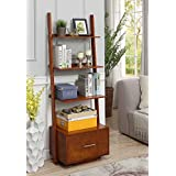 Convenience Concepts 8043491CH American Heritage Ladder Bookcase File Drawer