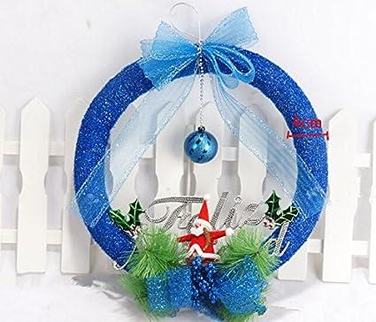 the best u want lightweight foam ball 35cm christmas wreath christmas wreath christmas party decorations hanging - Blue Christmas Theme Decorations